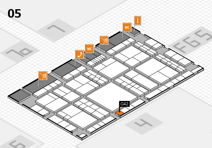 interpack 2017 hall map (Hall 5): stand G42