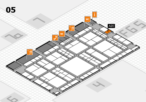 interpack 2017 hall map (Hall 5): stand A20