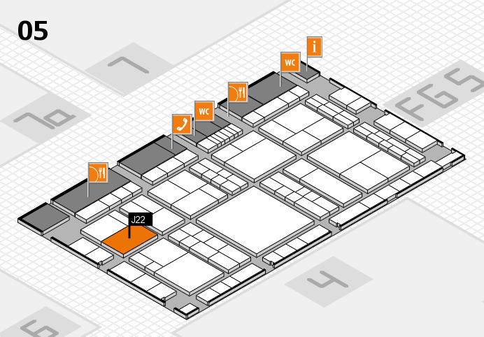 interpack 2017 hall map (Hall 5): stand J22