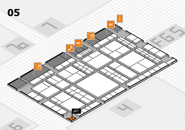 interpack 2017 Hallenplan (Halle 5): Stand J41