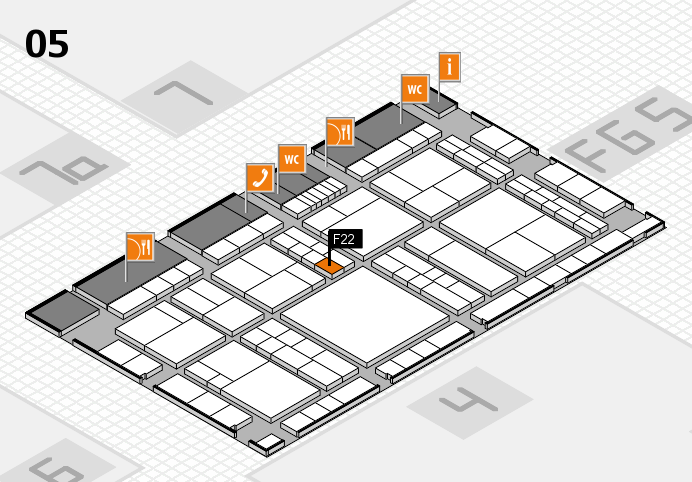 interpack 2017 hall map (Hall 5): stand F22