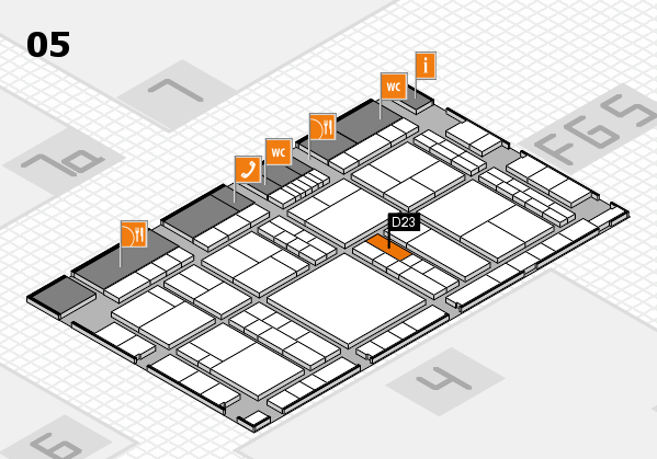 interpack 2017 hall map (Hall 5): stand D23