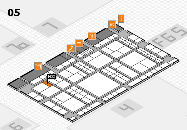 interpack 2017 hall map (Hall 5): stand H03