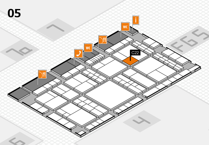 interpack 2017 hall map (Hall 5): stand C22