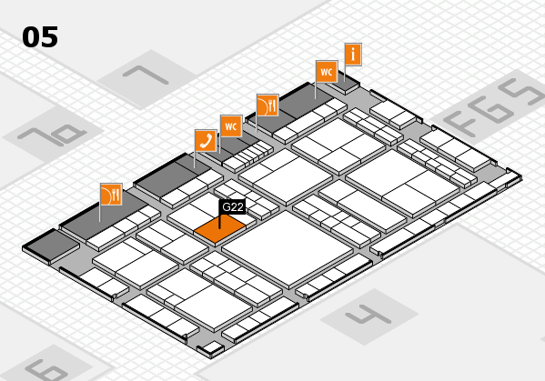 interpack 2017 hall map (Hall 5): stand G22