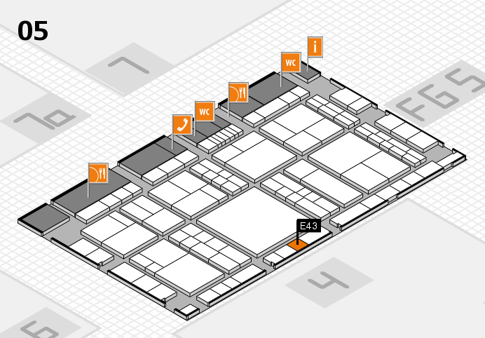 interpack 2017 hall map (Hall 5): stand E43