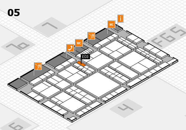 interpack 2017 hall map (Hall 5): stand E03