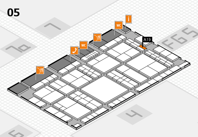 interpack 2017 hall map (Hall 5): stand A19