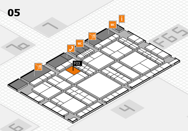 interpack 2017 hall map (Hall 5): stand F03