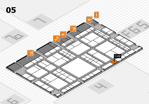interpack 2017 hall map (Hall 5): stand C42