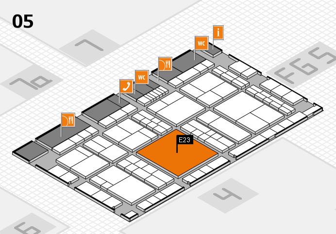 interpack 2017 hall map (Hall 5): stand E23