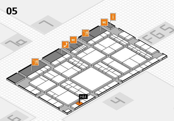 interpack 2017 hall map (Hall 5): stand H44