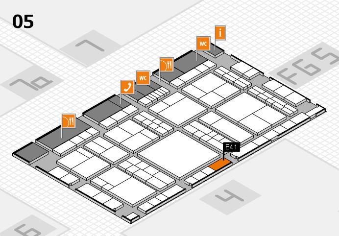 interpack 2017 Hallenplan (Halle 5): Stand E41