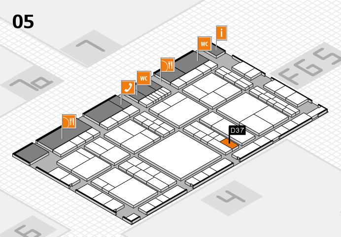 interpack 2017 Hallenplan (Halle 5): Stand D37