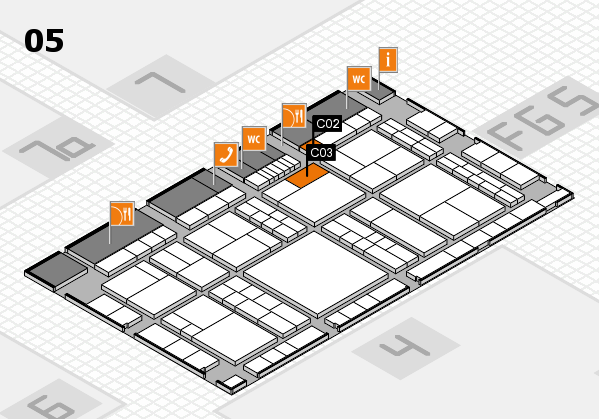 interpack 2017 hall map (Hall 5): stand C02, stand C03