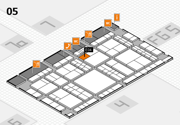 interpack 2017 hall map (Hall 5): stand E04