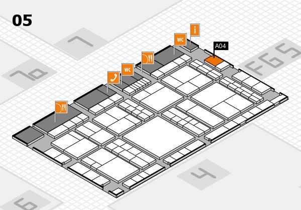 interpack 2017 Hallenplan (Halle 5): Stand A04