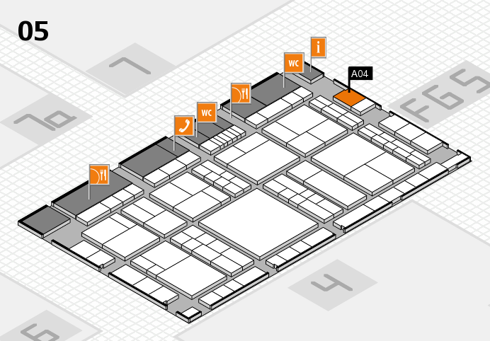 interpack 2017 hall map (Hall 5): stand A04