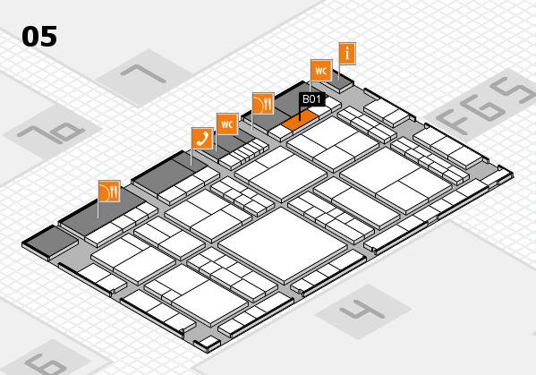 interpack 2017 Hallenplan (Halle 5): Stand B01