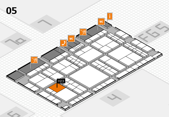 interpack 2017 hall map (Hall 5): stand H23