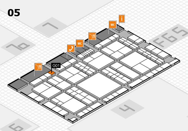 interpack 2017 Hallenplan (Halle 5): Stand G01