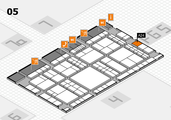 interpack 2017 hall map (Hall 5): stand A24