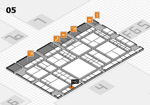 interpack 2017 hall map (Hall 5): stand H42