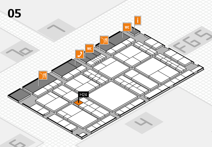 interpack 2017 hall map (Hall 5): stand H24