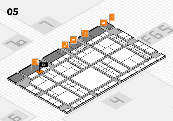 interpack 2017 hall map (Hall 5): stand H01