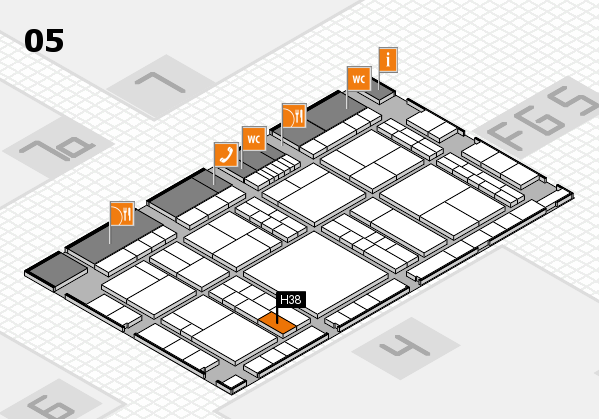 interpack 2017 hall map (Hall 5): stand H38
