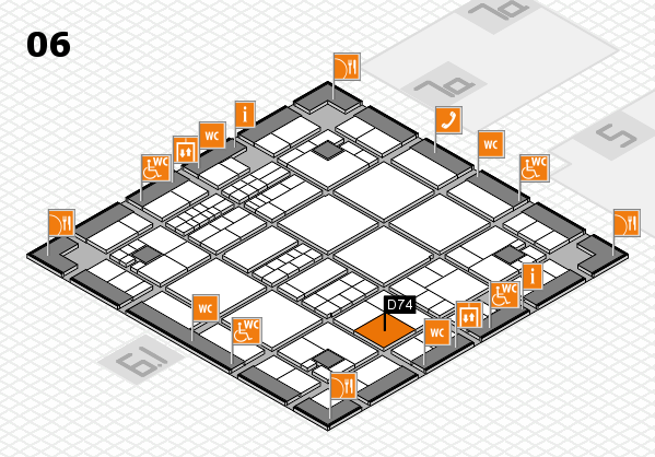 interpack 2017 hall map (Hall 6): stand D74