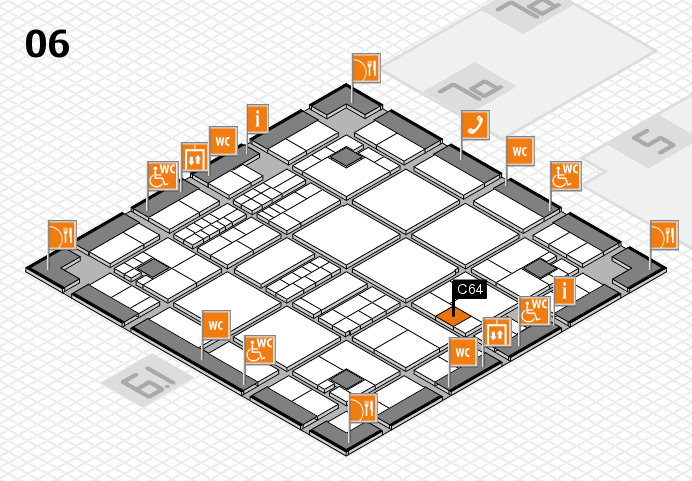 interpack 2017 hall map (Hall 6): stand C64