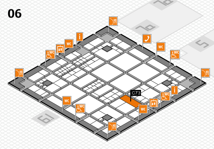 interpack 2017 hall map (Hall 6): stand C73