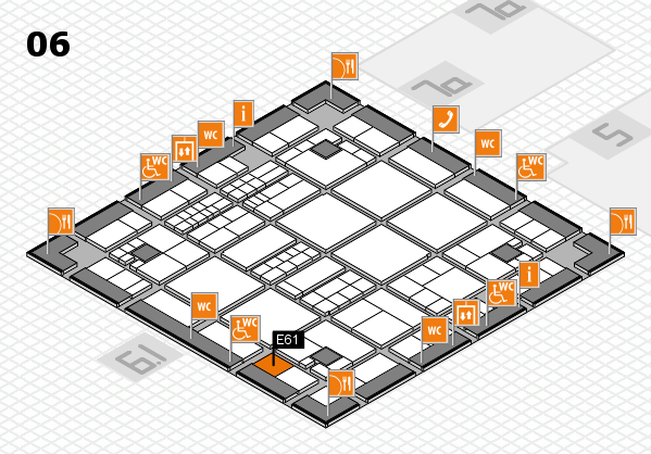 interpack 2017 hall map (Hall 6): stand E61