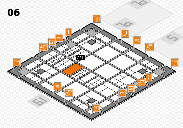 interpack 2017 hall map (Hall 6): stand C31