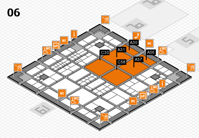 interpack 2017 hall map (Hall 6): stand A30, stand C58