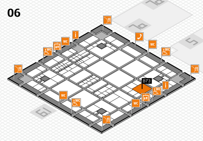 interpack 2017 hall map (Hall 6): stand B73