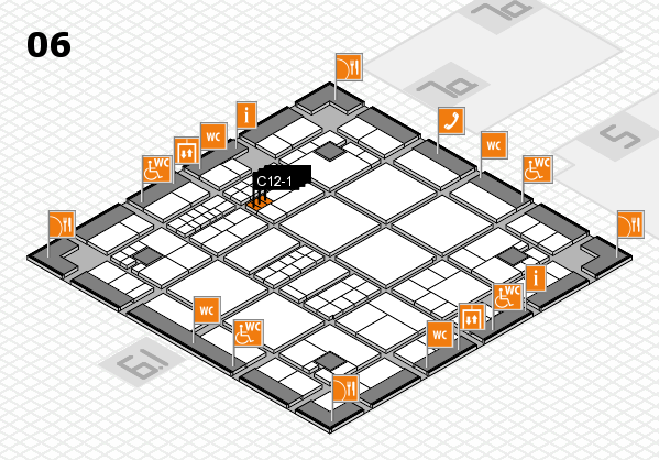 interpack 2017 hall map (Hall 6): stand C12-1, stand C12-3