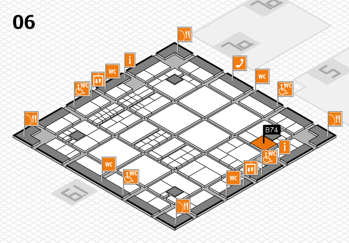 interpack 2017 hall map (Hall 6): stand B74