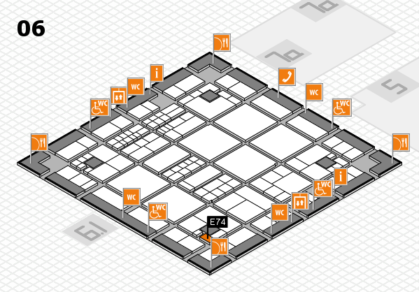 interpack 2017 hall map (Hall 6): stand E74