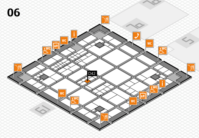 interpack 2017 hall map (Hall 6): stand D42