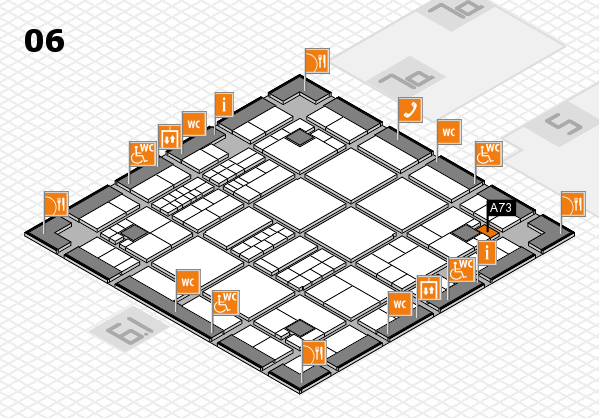 interpack 2017 hall map (Hall 6): stand A73