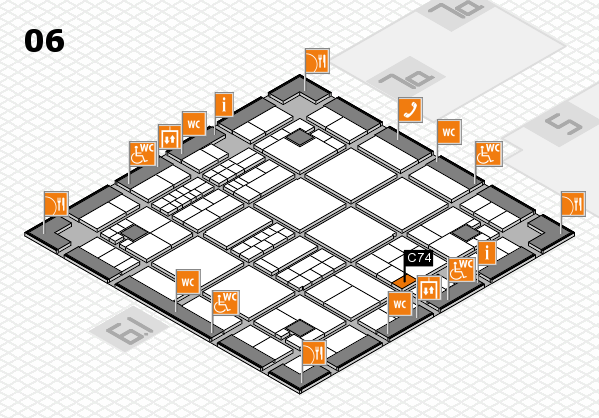 interpack 2017 hall map (Hall 6): stand C74