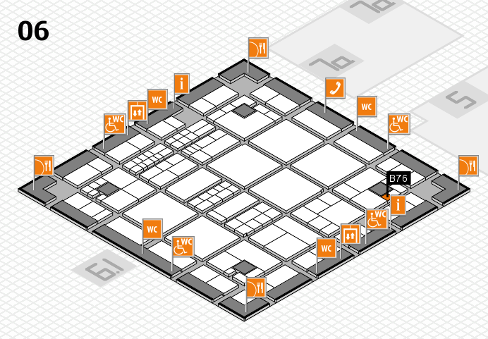 interpack 2017 hall map (Hall 6): stand B76