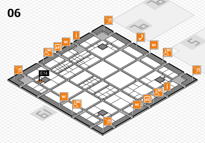 interpack 2017 hall map (Hall 6): stand E14