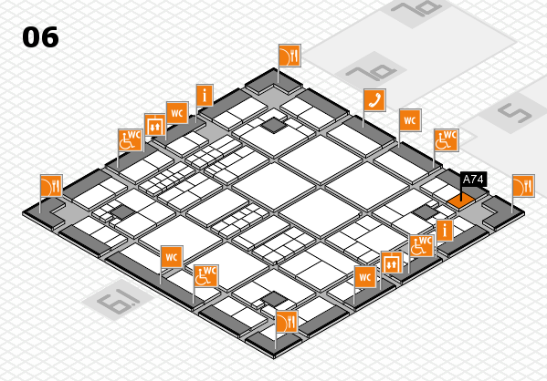 interpack 2017 hall map (Hall 6): stand A74