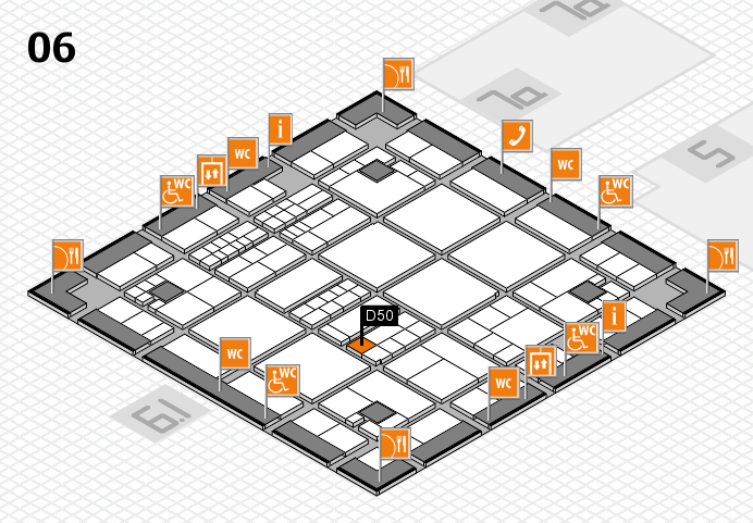 interpack 2017 hall map (Hall 6): stand D50