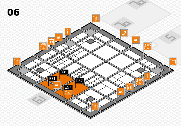 interpack 2017 hall map (Hall 6): stand D31, stand E57