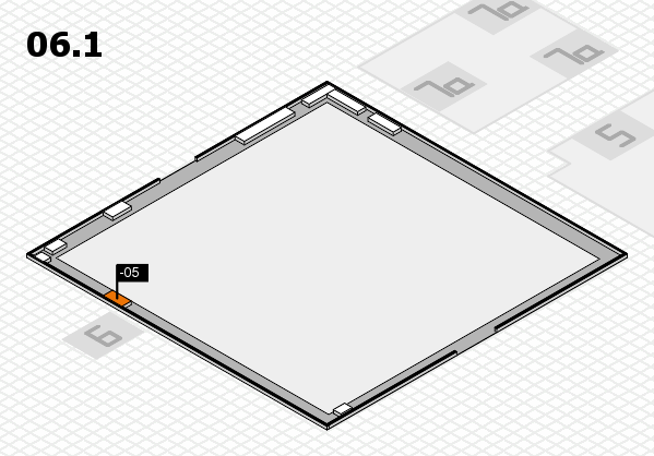 interpack 2017 hall map (Hall 6, gallery): stand -05