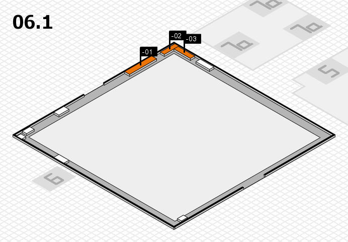 interpack 2017 hall map (Hall 6, gallery): stand -01, stand -03